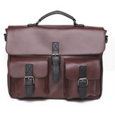 PU Leather Handbag Briefcase Messenger Shoulder Bag Laptop Bag Business Backpack