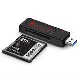 Leitor de Cartão Kawau C302 USB3.0 CFast 2.0 Leitor de Cartão de Memória Dedicado para Canon 1DX C300 XC10 Câmera SLR Profissional