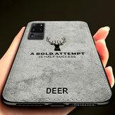 BAKEEY Deer Classic Pano de lona à prova de choque TPU de proteção Caso para Samsung Galaxy S20 Ultra