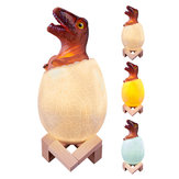 Loskii KL-02 Decorative 3D Raptor Dinosaur Egg Smart Night Light Touch Switch 3 Colors Change LED Nightlight For Christmas Gift
