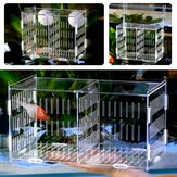 Large  Aquarium Acrylic Box Isolation Incubator Breeding Fish Tank Breeder Hatching Hanging