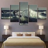 5 STÜCKE Moderne Home Room Wall HD Kunst Bild Surfen Spray Painting Decor Wände Aufkleber