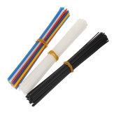 50 sztuk Wielokolorowe pręty spawalnicze z tworzywa sztucznego PP / PVC do napraw Plastikowe patyczki spawalnicze 2,5 x 5 mm