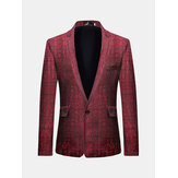 Mens Business Casual Print schlanke junge Blazer