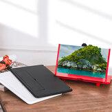 12 inch HD 3D Creative Opvouwbaar telefoonscherm Vergrootglas 3-4 keer vergroten Video videoschermversterker Lazy Desktop Mounts voor alle mobiele telefoons