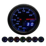 12V 2 Inch Medidor de voltaje de 52 mm 7 Color LED Pantalla Auto Volt Universal