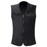 Intelligent Electric Heated USB Waistcoat Winter Temperature Control Sleeveless Coats Black