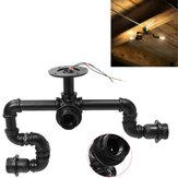 Lampadari da soffitto con lampadari a tubo di ferro vintage sfalsati Steampunk industriali a 3 vie