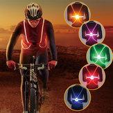 Illuminazione esterna LED Luce riflettente in fibra ottica di sicurezza Cintura Cinturino per gilet Luce notturna per bici da sport