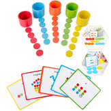Монтессори Деревянная цветовая классификация Подходящие игрушки Наборы для детей Раннее образование