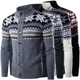 Mens Winter Sweater Knitwear Knitted Cardigan Coat Thick Jacket Cardigan Outwear