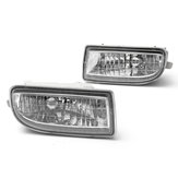 Pair Clear Car Front Driving Fog Lights Lamp with 9006 Bulbs 55W For Toyota Land Cruiser 1998-2007