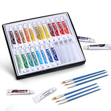 24 Colors Watercolor Painting Set 24 Colors 6 Free Brushes Set Acrylic Paint Pigments Professional Art Painting Pigment Set For Shcool Supplies