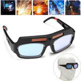 Soldadura de oscurecimiento automático con energía solar Mascara Soldadoras de gafas de casco Gafas Gafas de PC de arco para protección de soldadura
