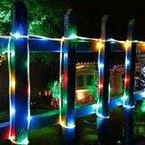 50 Leds Solar Rope Tube light Led String STRIP Waterproof Outdoor Garden Light
