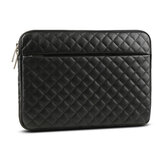 ATailorBird Plain Texture PU Liner Laptop Bag For 13.3 inch And 15.6 inch Notebook-Black