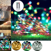 10M 100 LED Cadena de luz USB Fairy Night Lamps Holiday Christmas Decor + Control remoto