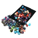 105 Pcs Dice Set Dice Poliédrico 7 Cores Role Playing Table Game Com Jogo de Pano Multi-sied Dice