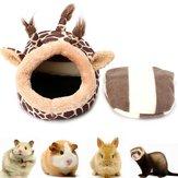 Küçük Pet Yatak Zürafa Kedi Köpek Uyku Evi Kulübesi Köpek Mağara Mat Pad Yuva
