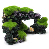 16x8.5x9cm Nouvelle Résine Aquarium Coral Reef Rock Decor Aquarium Aquarium Conch Reef Moss Rockery Décorations