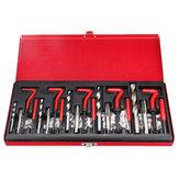131PCS أداة إصلاح الخيط التنصت M5X0.8X6.7mm ، M6X1.0X10.8mm ، M8X1.25X10.8mm ، M10X1.5X13.5mm ، M12X1.75X16.3mm