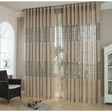 Pair 100*270cm Living Room Bedroom Curtain Floral Tulle Door Window Curtain Curtains Scarf Drapes Valance Home Decor