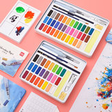 XIAOMI Ecosystem Deli 24/36 Colors Solid Watercolor Paint Set Metal Iron Box Hand Painted Watercolor Pigment Art Painting Tools Supplies 73876/73877