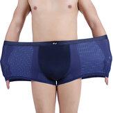 Erkek Buz İpek Mesh Nefes Alınabilir Elastik Yumuşak Yumuşak İç Çamaşırı Plus Boyut M-3XL 5 Renkli Boksörler