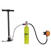 1L Portátil Mini Cilindro de Oxigênio Ar Tanque de Oxigênio Respiração Mergulho Subaquático Cilindro de Oxigênio