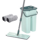 Bakeey  Hand-Free Wringing Floor Cleaning Mop Wet Dry Usage Magic Automatic Spin Self Cleaning Lazy Mop Bucket