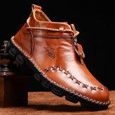 हाथ सिलाई चमड़े बड़े आकार Soft एकमात्र आरामदायक जूते