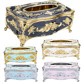 Elegant Tissue Box for Paper Towel Gold Silver Storage Boxes Container Napkins Holder Case Organizer