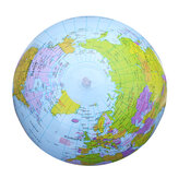 PVC Inflatable Globe Beach Ball Geography 16Inch World Map Educational Toys
