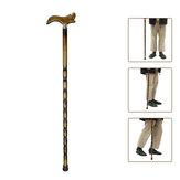9048 piedi in legno bastone bastone da canna in legno intagliato verniciato arrampicata robusto bastones