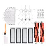 30pcs रिप्लेसमेंट XIAOMI रोबोरॉक S6 S5 E35 E2 वैक्यूम क्लीनर पार्ट्स एक्सेसरीज़ 6 * 5-आर्म साइड ब्रश 12 * वॉटर कोर 4 *
