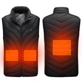 Red/Black 5V USB Heated Vest Men Winter Electrical Heated Sleeveless Jacket Outdoor Hiking