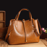 Women Faux Leather Solid Handbag Vintage Crossbody Bag