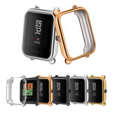 TPU Watch Case Cover Metal Texture Design Watch Cover voor Amazfit Bip Lite