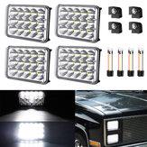 AMBOTHER 4PCS 4x6 Pollici Rettangolare LED Lampadina fari 12V 6000K Bianco H4651 H4652 H4656 H4666 H6545