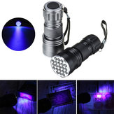 21 LEDs 400nm Alumínio UV Lanterna Ultra Violeta Mini Violeta Torch Light Blacklight Lâmpada Detector de Moeda