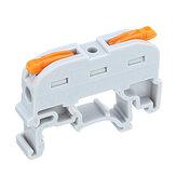 10pcs SPL-1 PCT-211 Rail Tipo Conexão rápida Terminal Press Tipo Conector Em vez de UK2.5B Terminal Block