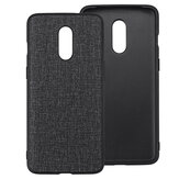 Bakeey Anti-Fingerprint Canvas PU Leather Protective Case for Oneplus 7