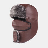 Men's Leather Warm And Windproof Outdoor Hat