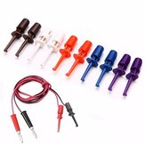 30pcs Multimeter Wire Lead Test Hook Clip Electronic Mini Test Probe Set Red White Blue Black Purple For Repair Tool