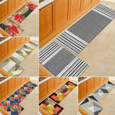 2pcs Kitchen Floor Carpet Non-Slip Area Rug Living Room Washable Door Mat Set