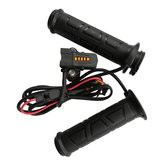 7/8 Inch 22mm Electric Heated Handlebar Grip LED Indicator Warmers 5 Gear Adjust Temperature Motorcycle Handle Bar Universal