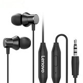 Lenovo HF130 Bass 3.5mm Wired In-ear Earphone Universal Headphones for Smartphone MP3