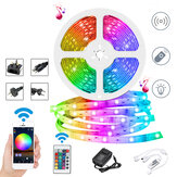 DC12V 10M Não-impermeável DIY 2835 RGB WiFi Inteligente 600LED Strip Light Work Com Alexa Google Home for Home Decor