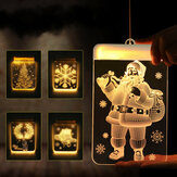Noel Asılı LED Dize Işık Sıcak Beyaz Batarya Tedarik Festivali Parti Tatil Işık Dekor