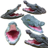 New Floating Crocodile Head Water Decoy Garden or Pond Art Decorations for Goose Predator Heron Duck Control